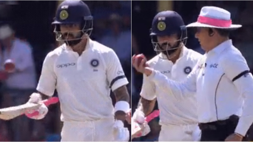 AUS v IND 2018-19: WATCH- Virat Kohli juggles the ball before umpire takes it away from him