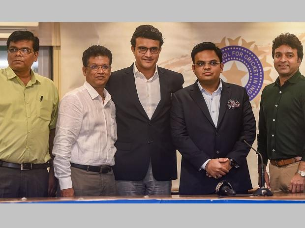 Jay Shah with BCCI Chief Sourav Ganguly