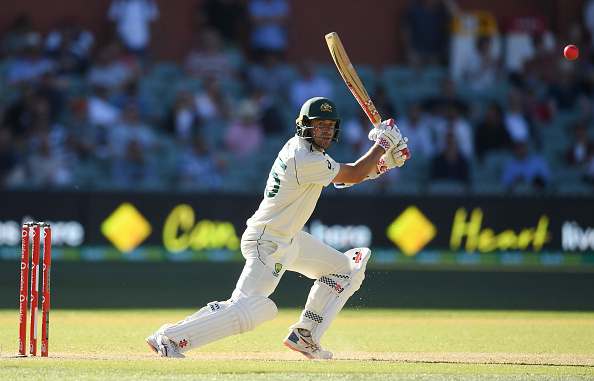 Joe Burns enroute his half-century in the second innings at Adelaide | Getty