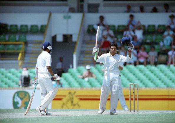 Sachin Tendulkar in action during his first Australia tour   Getty