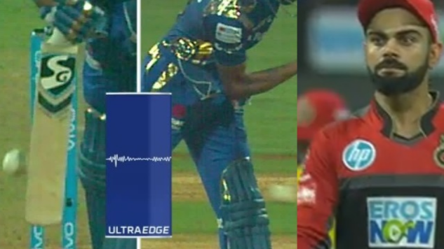 WATCH: Virat left surprised as DRS finds Hardik not out despite snicko showing a spike