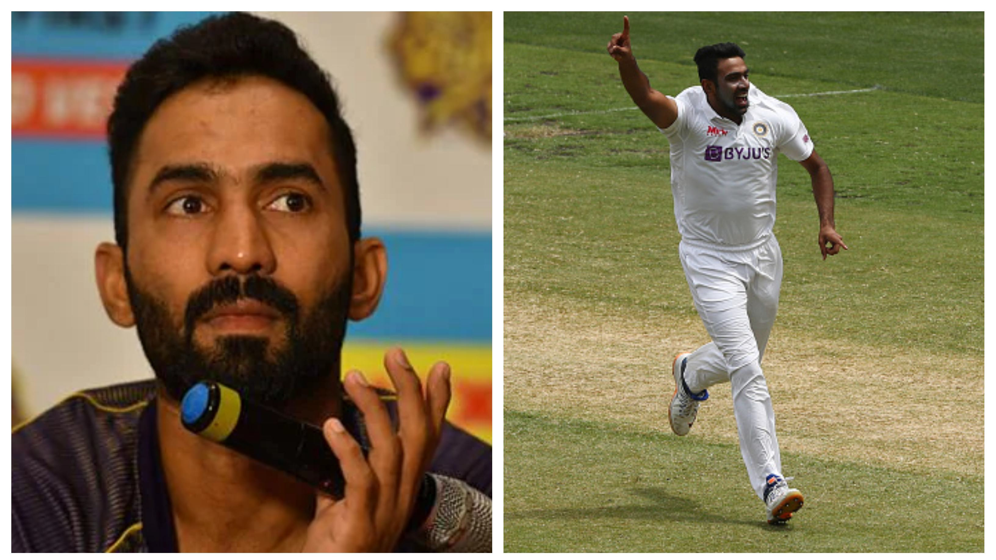 """""""I think it's a tad bit unfair"""", Dinesh Karthik on criticism over R Ashwin's performances in SENA countries"""