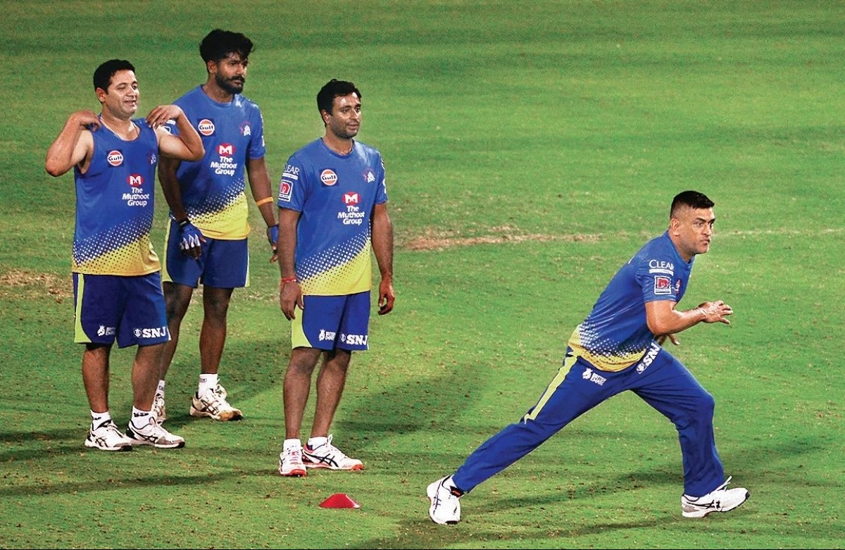 CSK during their practice camp in Chennai in March 2020 | Twitter
