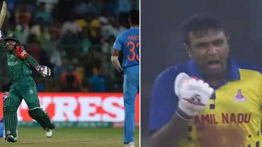 Twitterati compare Ashwin and Mushfiqur after former's premature celebration in Syed Mushtaq Ali Trophy final