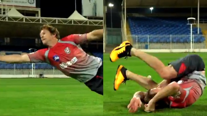 IPL 2020: WATCH - 51-year-old Jonty Rhodes takes a stunning one-handed catch during KXIP practice