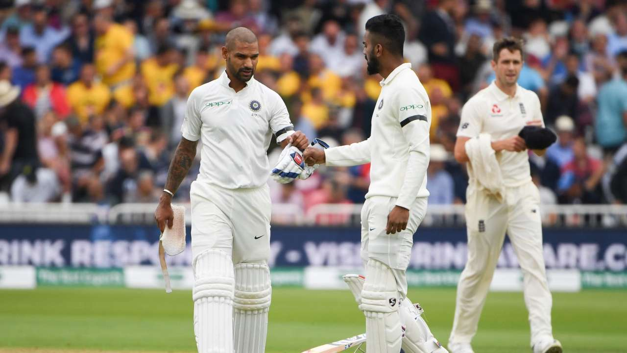 India openers Shikhar Dhawan and KL Rahul with black armbands | Getty