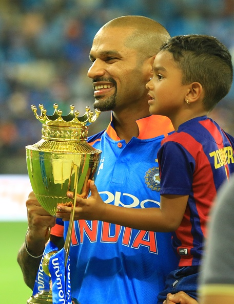 Shikhar Dhawan with his son | Getty Images
