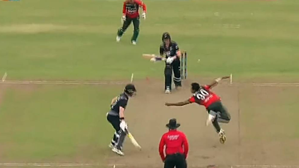 BAN v NZ 2021: WATCH- Mustafizur Rahman's spectacular caught and bowled to remove NZ's McConchie
