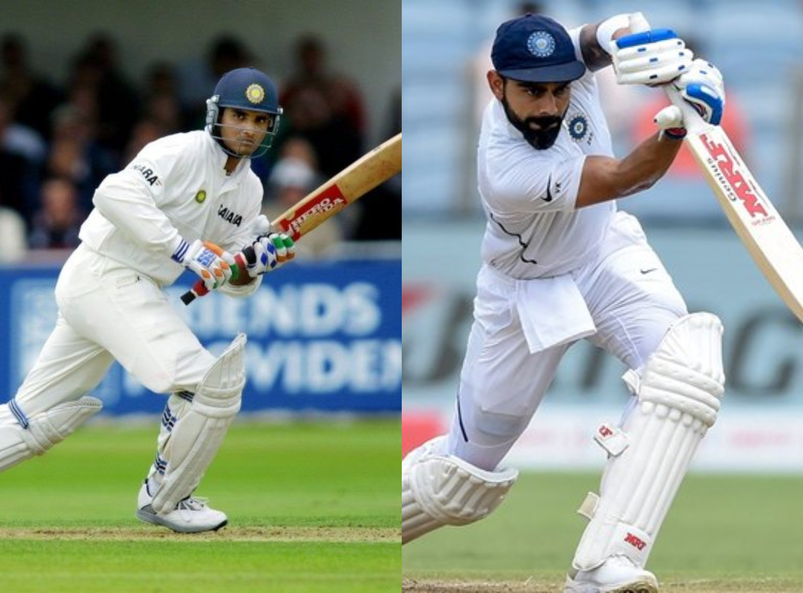 Both Ganguly and Kohli are amazing batsmen in their own rights apart from being excellent captains