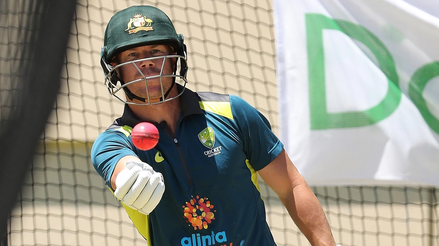David Warner against banning players for using saliva to shine the ball