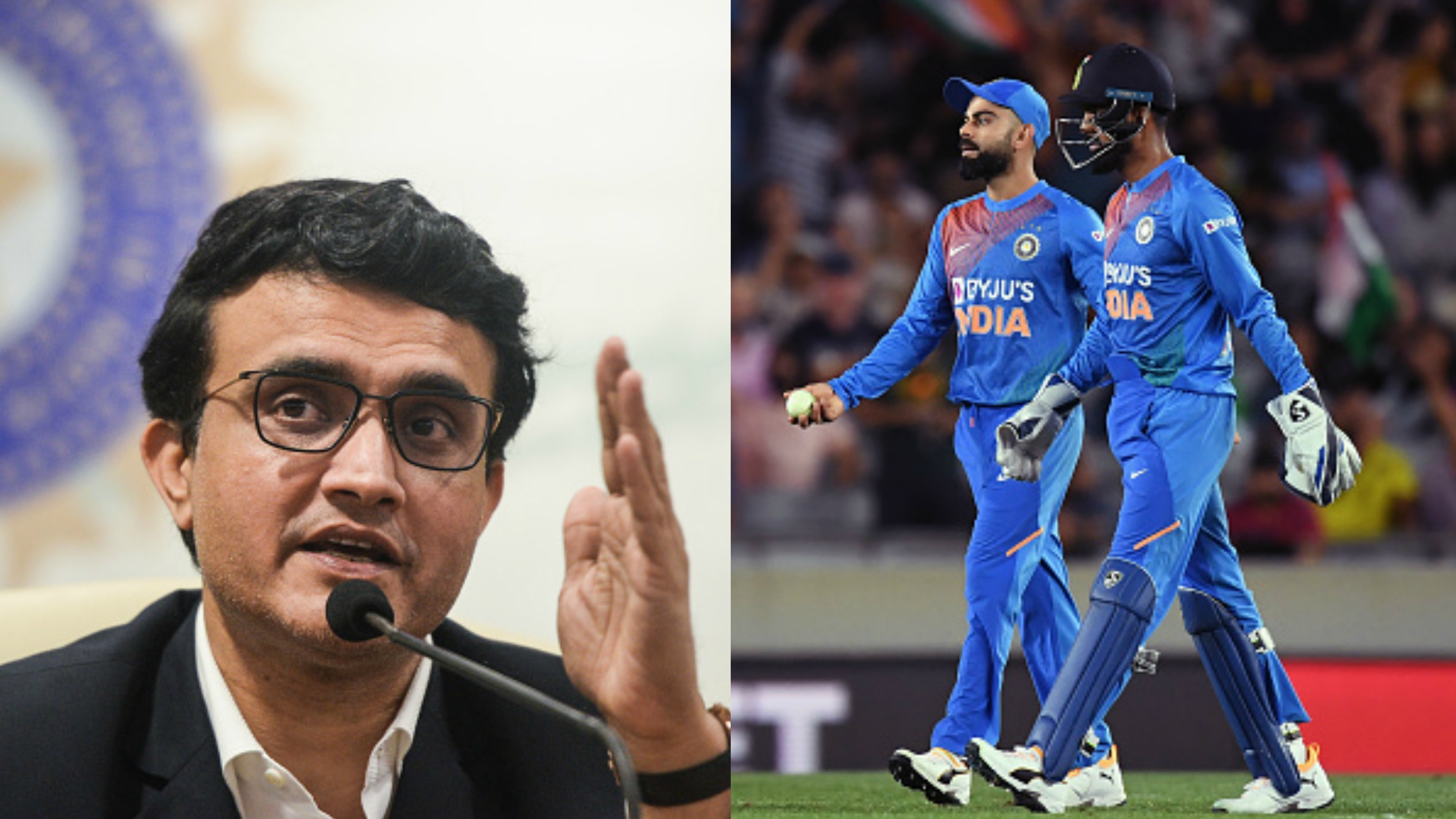 NZ v IND 2020: Sourav Ganguly reacts to Kohli's decision to play Rahul over Pant in Auckland T20I