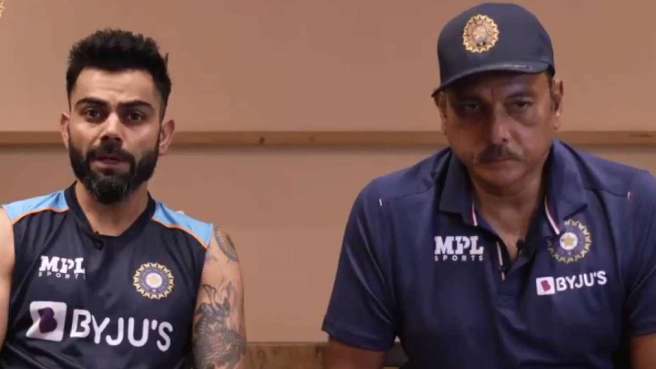 Virat Kohli and Ravi Shastri addressed the media before departing for the England tour | BCCI