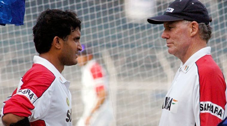Sourav Gangly with Greg Chappell | Getty
