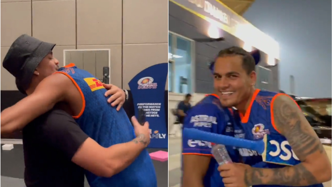 WATCH - Mumbai Indians players congratulate Rahul Chahar, Ishan Kishan for selection in T20 World Cup squad