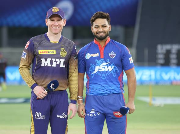 Eoin Morgan of KKR and Rishabh Pant of DC | BCCI-IPL