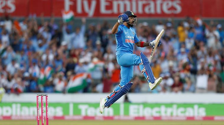 KL Rahul celebrates his second T20I century in the 1st T20I against England | Reuters