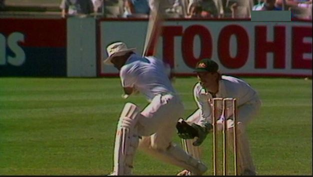 Sunil Gavaskar during his epic 172 at SCG in 1986 Test