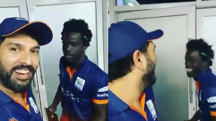 T10 League 2019: WATCH- Hilarious! Yuvraj Singh teaches Punjabi to Chadwick Walton