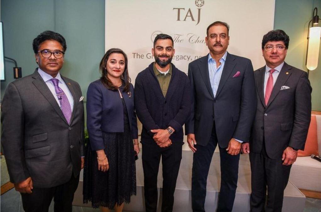 Ravi Shastri and Virat Kohli during Shastri's book launch event in London   Business Traveller
