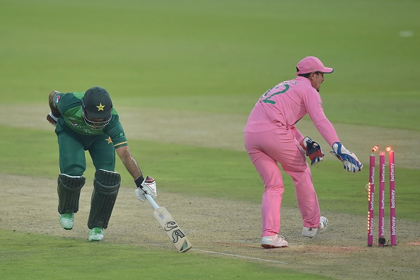 Fakhar Zaman was run-out on 193 in the last over | Getty