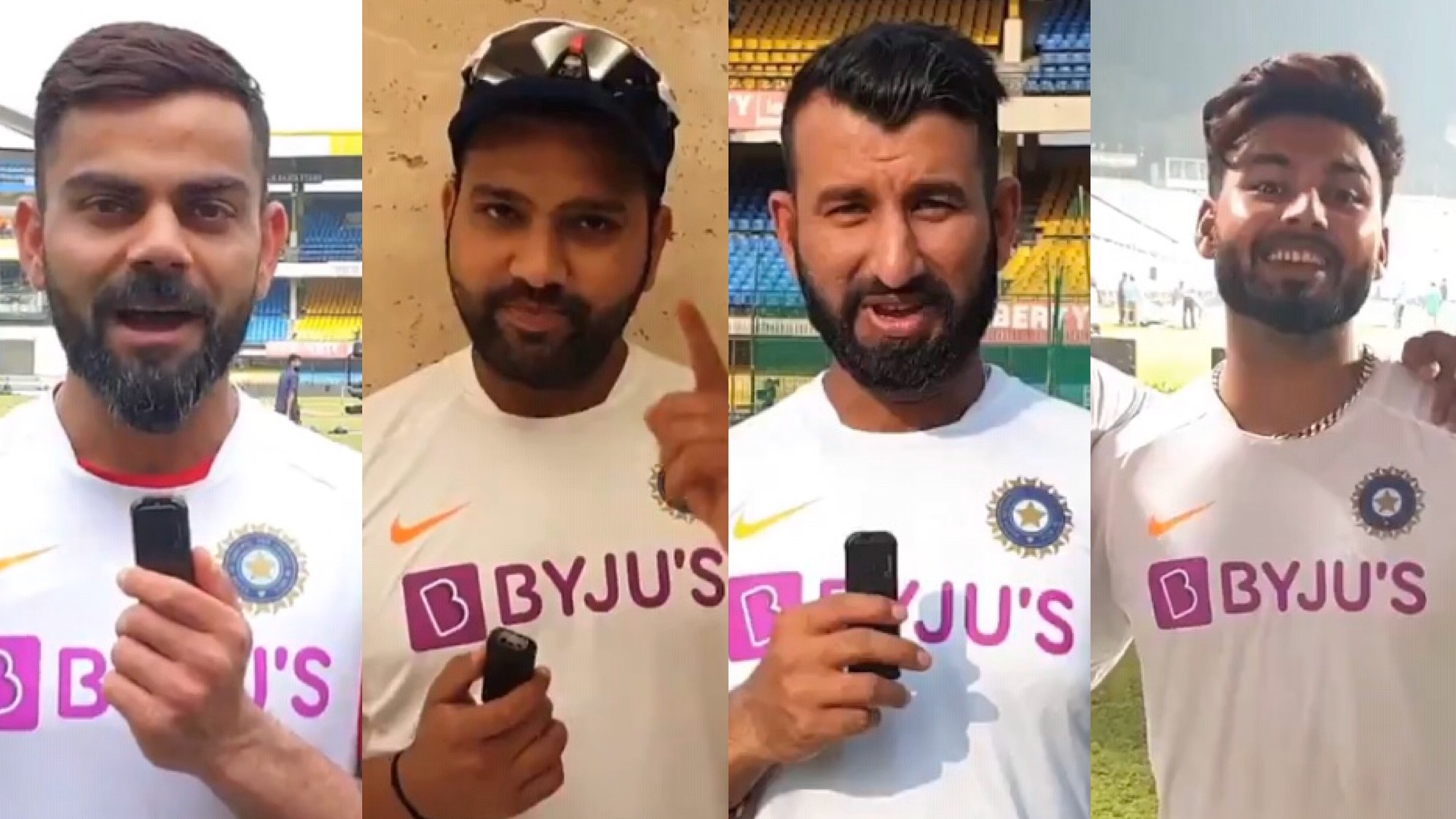 IND v BAN 2019: WATCH – Indian players send positive vibes on the eve of Day-Night Test