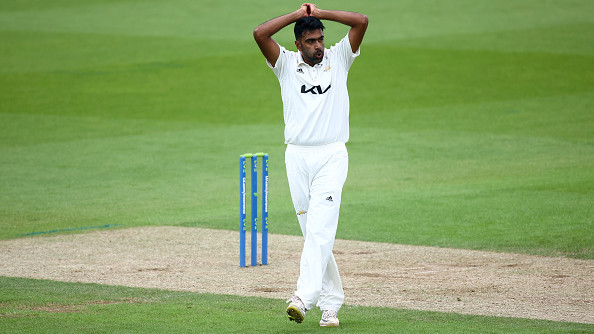 R Ashwin bowls 43 overs in Surrey's County Championship match against Somerset, bags only one wicket