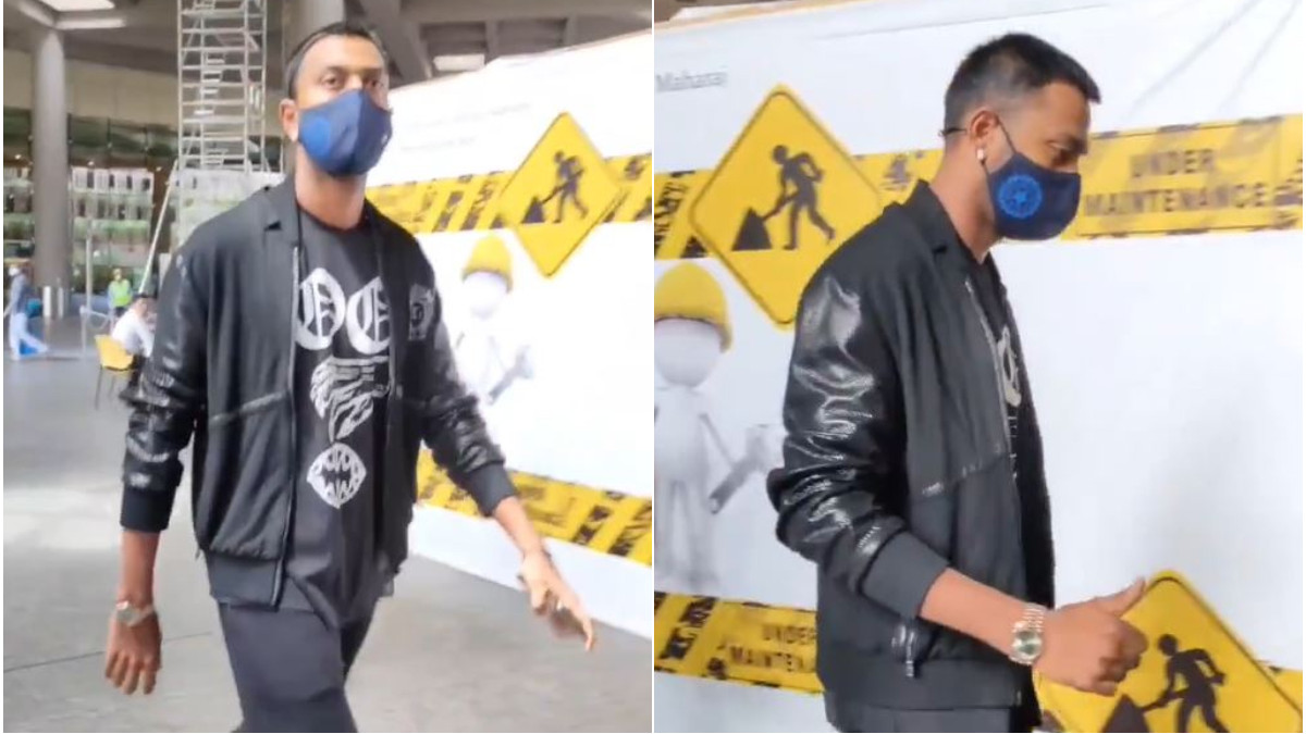 WATCH- Krunal Pandya returns home from Sri Lanka after recovering from COVID-19