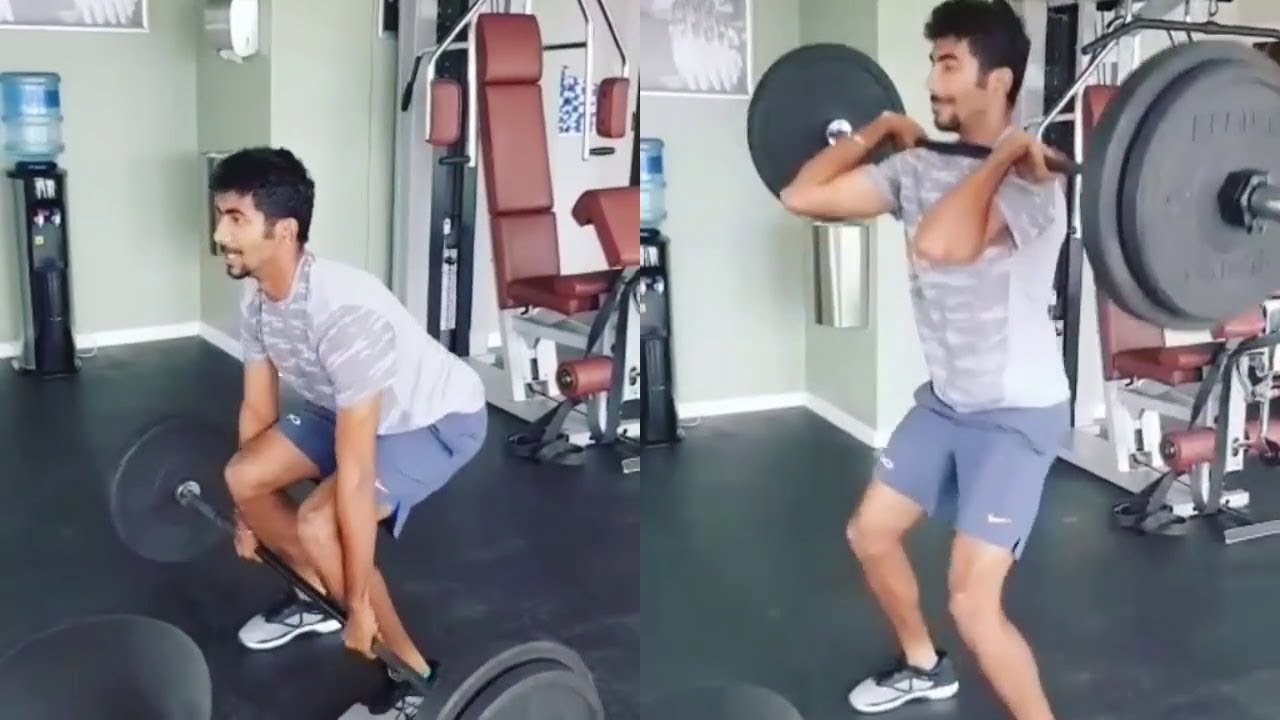 Jasprit Bumrah working out