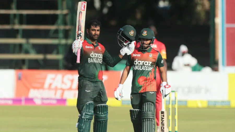 Tamim Iqbal registered his 14th century during the 3rd ODI against Zimbabwe   Getty
