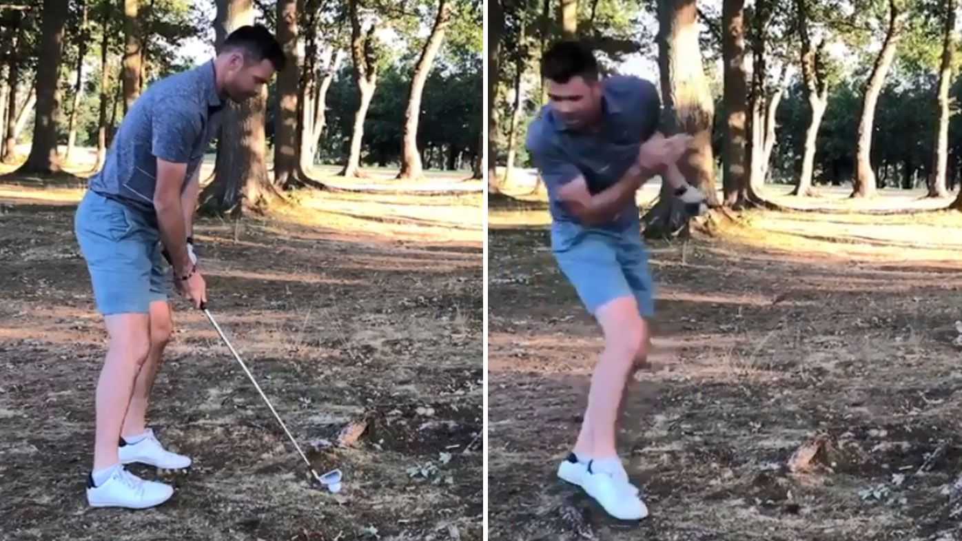 The video was filmed by Broad and made fun of Anderson's golfing skills