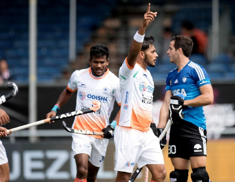 Indian hockey team defeated Argentina 2-1 in the ongoing Champions Trophy in Netherlands