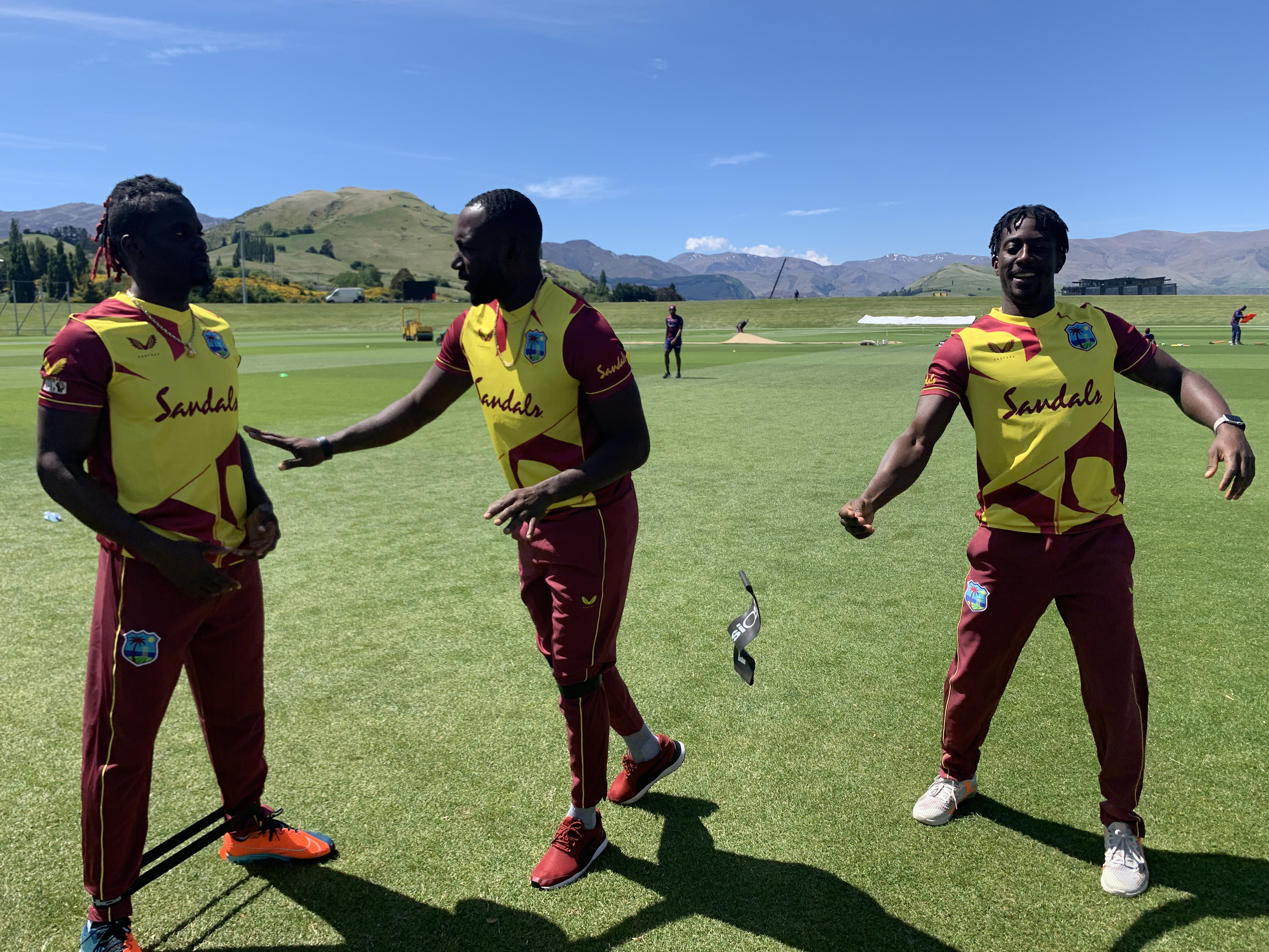 West Indies players in new T20I jersey   CWI