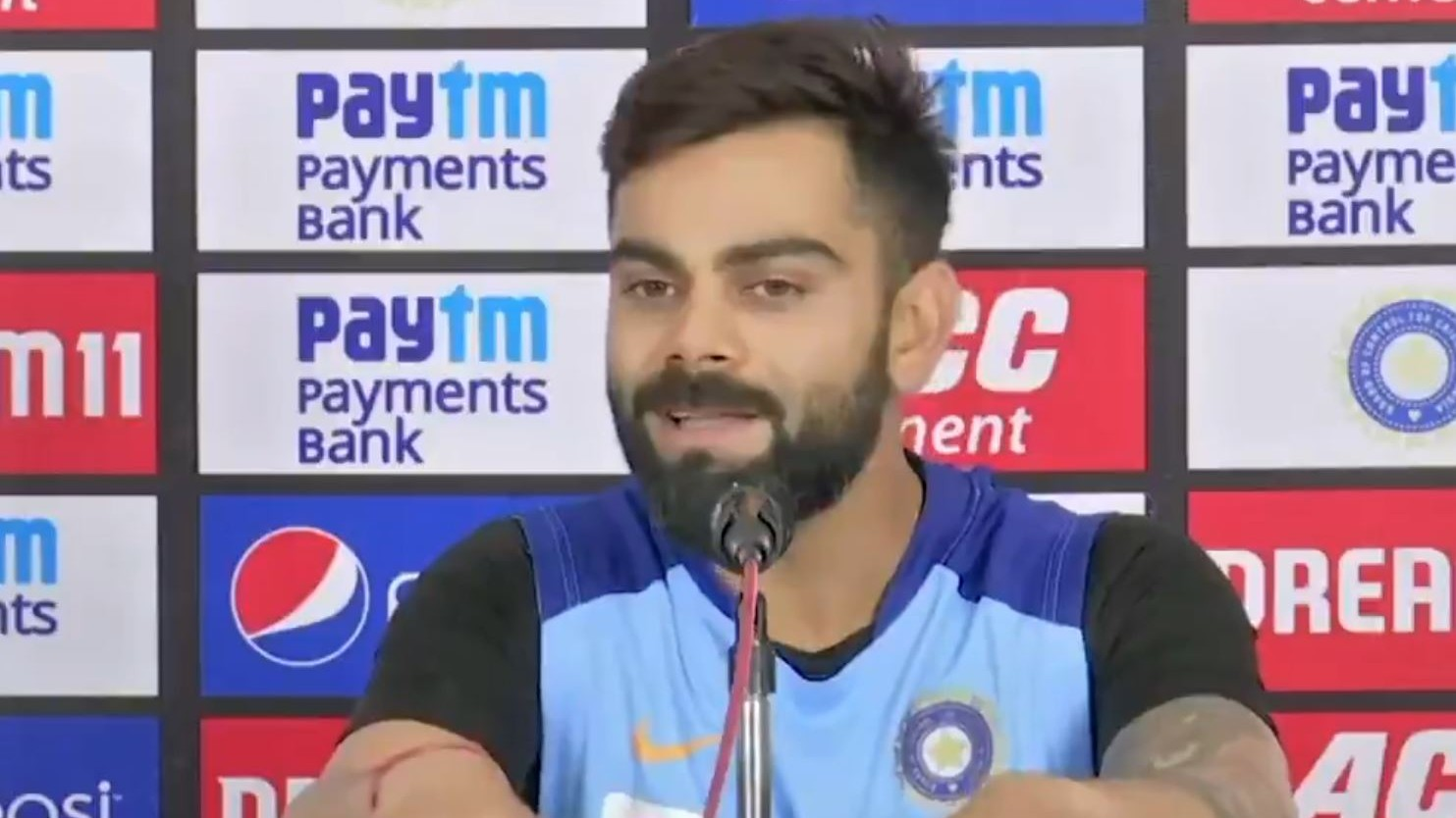 IND v WI 2019: WATCH- Virat Kohli defends India's no.5 spot in T20I ranking; says haven't fielded strongest team yet