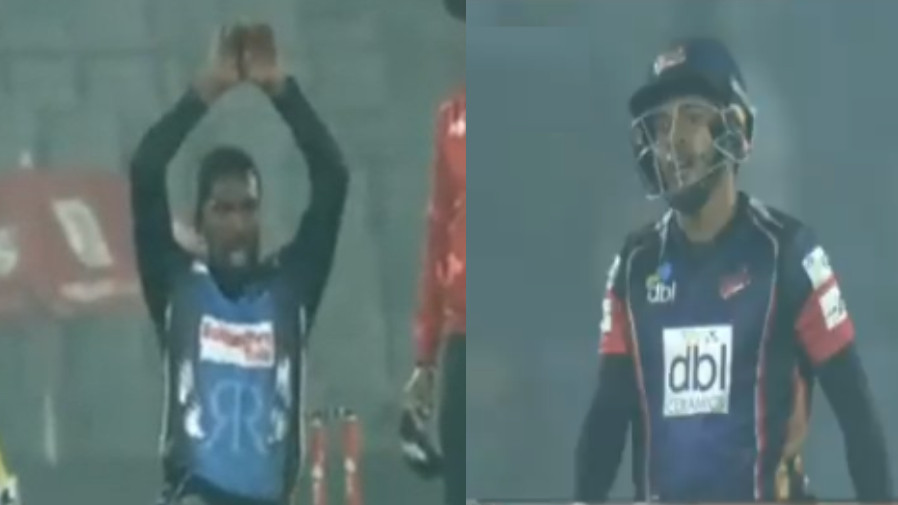 WATCH: Mushfiqur Rahim irked after bowler celebrates his wicket with Nagin Dance