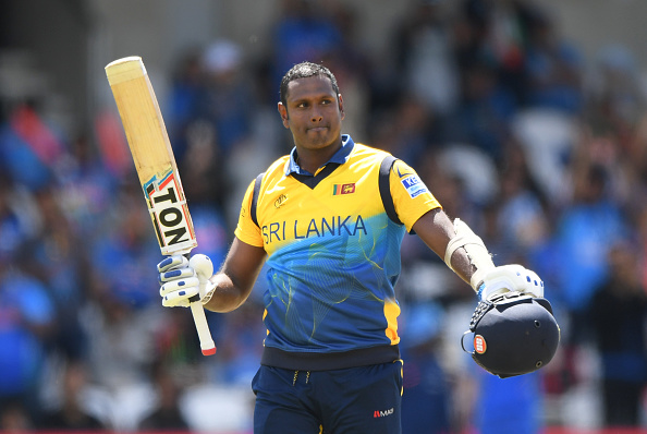 Angelo Mathews played a brilliant knock of 113 against India | Getty