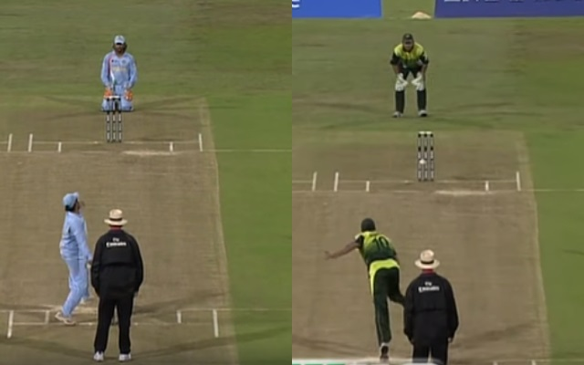 Positions where MS Dhoni and Kamran Akmal stood during bowl out in World T20 2007