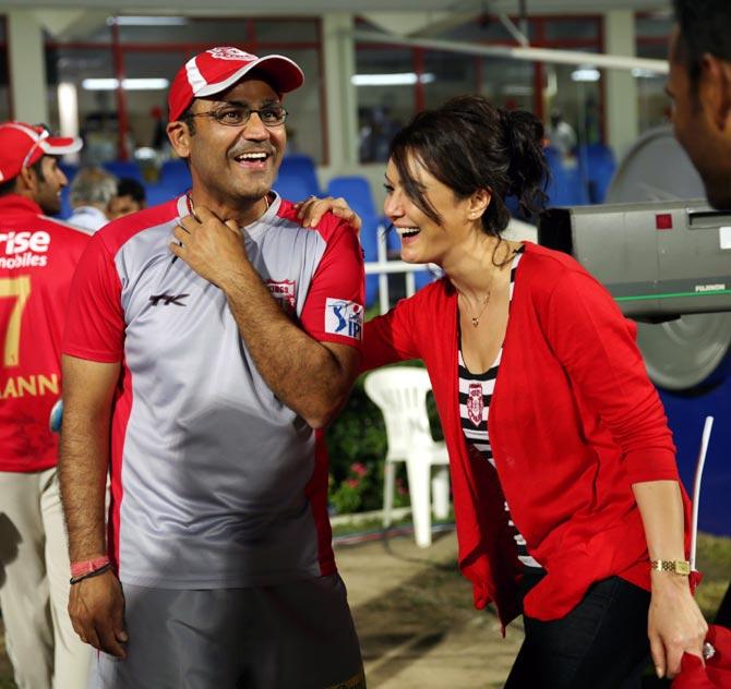 IPL 2018: Virender Sehwag trolls Preity Zinta in  humorous way