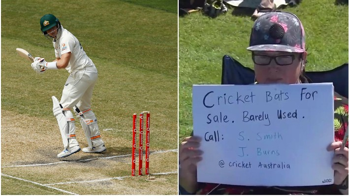 AUS v IND 2020-21: Steve Smith and Joe Burns mocked by New Zealand fan for their batting failures