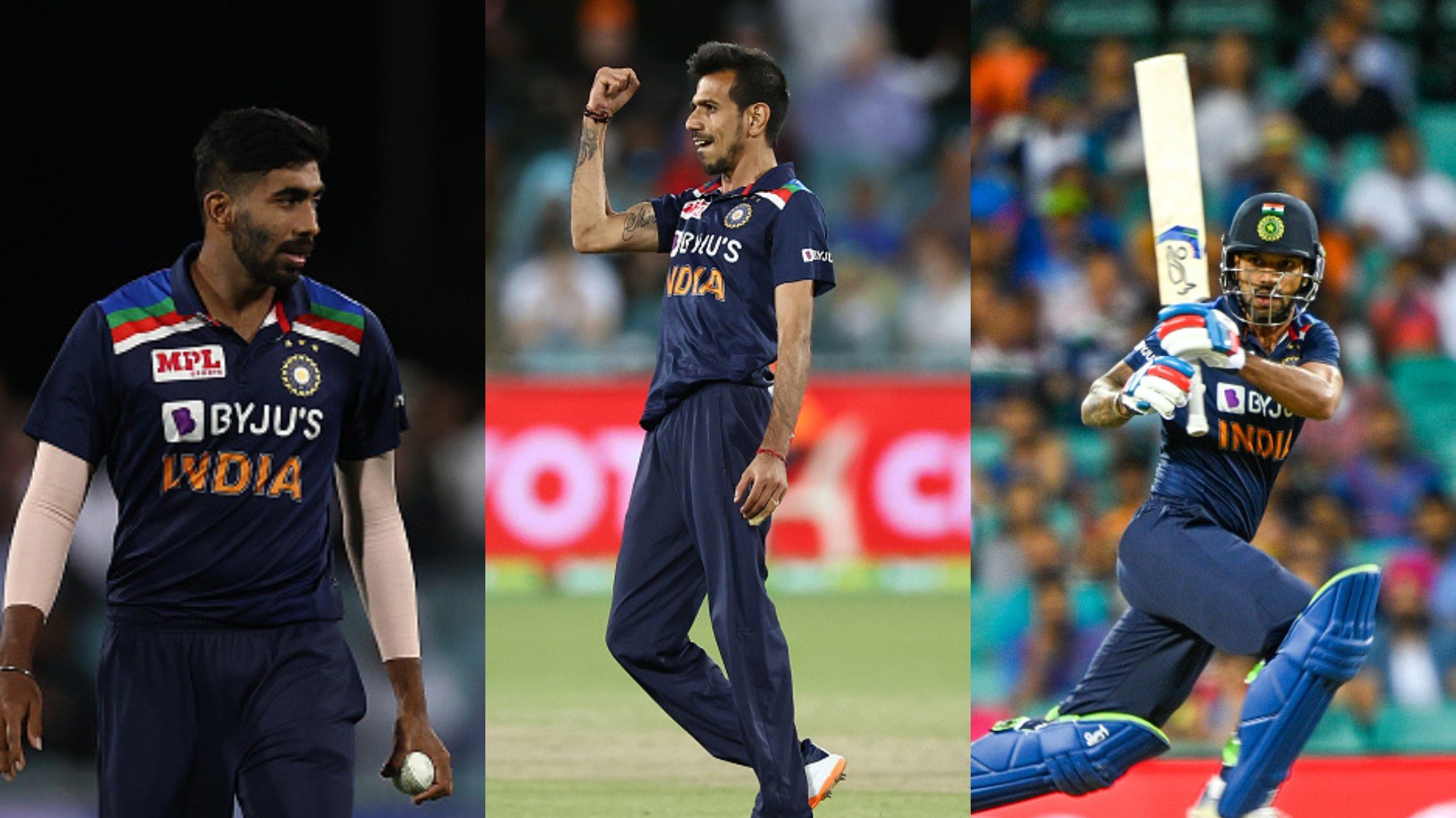 AUS v IND 2020-21: Chahal equals Bumrah as India's highest wicket-taker in T20Is; Dhawan's new milestone