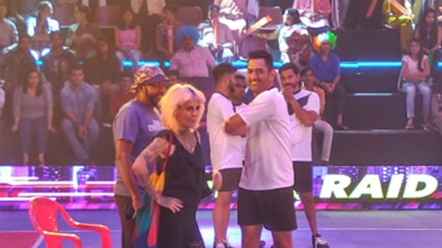 PICS: MS Dhoni tries his hands at Kabaddi