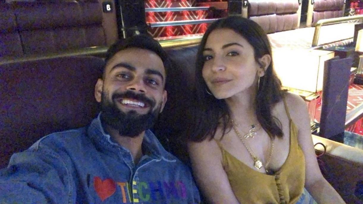 अनुष्का शर्मा के साथ फिल्म देखने पहुंचे विराट कोहली, सोशल मीडिया पर की फोटो पोस्ट