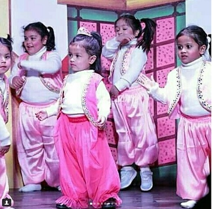 Ziva performing at the annual function of her school