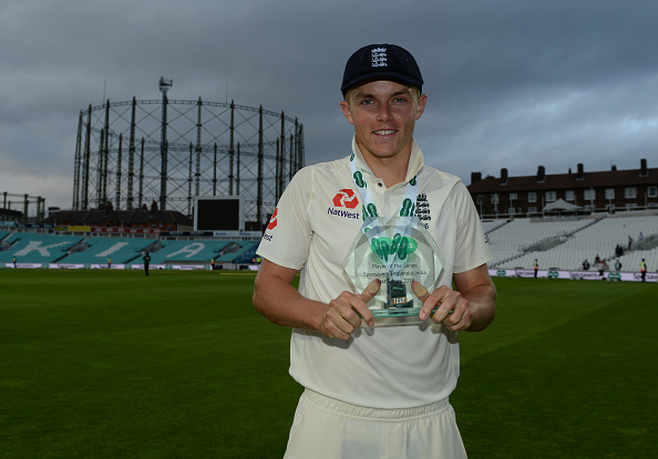 Sam Curran with Men of the Series Trophy | Getty Images