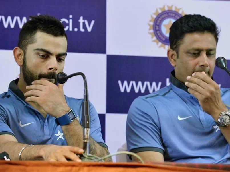Virat Kohli and Anil Kumble | AFP