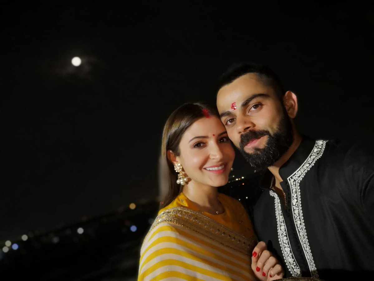 Virat Kohli and Anushka Sharma celebrate Karva Chauth | Twitter