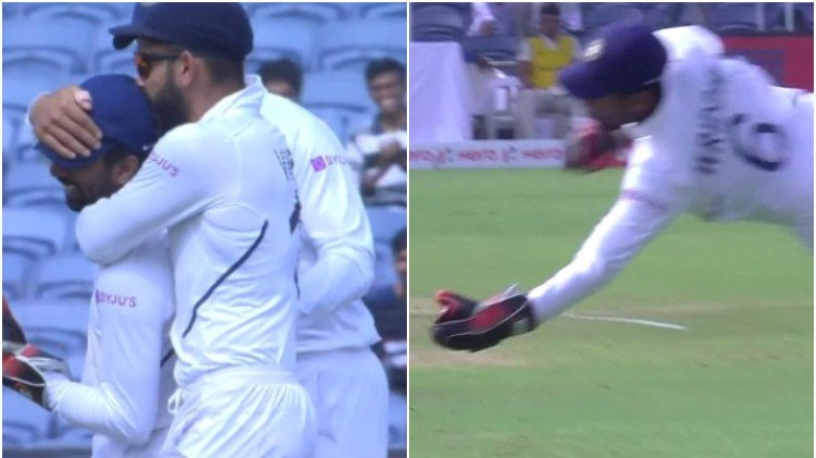 IND v SA 2019: Twitter delighted after Wriddhiman Saha takes a brilliant one-handed catch on leg side