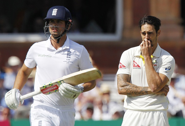 Cook and Johnson played 19 Ashes games against each other | Getty