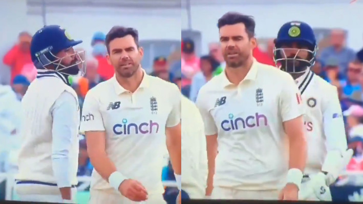 ENG v IND 2021: WATCH - James Anderson and Mohammed Siraj exchange words on Day 3 of opening Test
