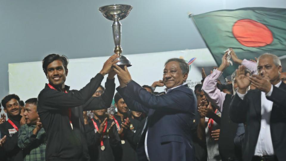 अंडर-19 विश्वकप जीतने के बाद बांग्लादेश ने इस तरह किया अपने खिलाड़ियों का स्वागत