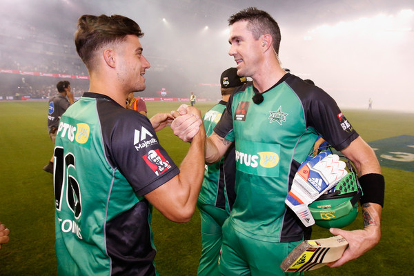 Stoinis - Pietersen are team mates at Melbourne Starts. (Getty)